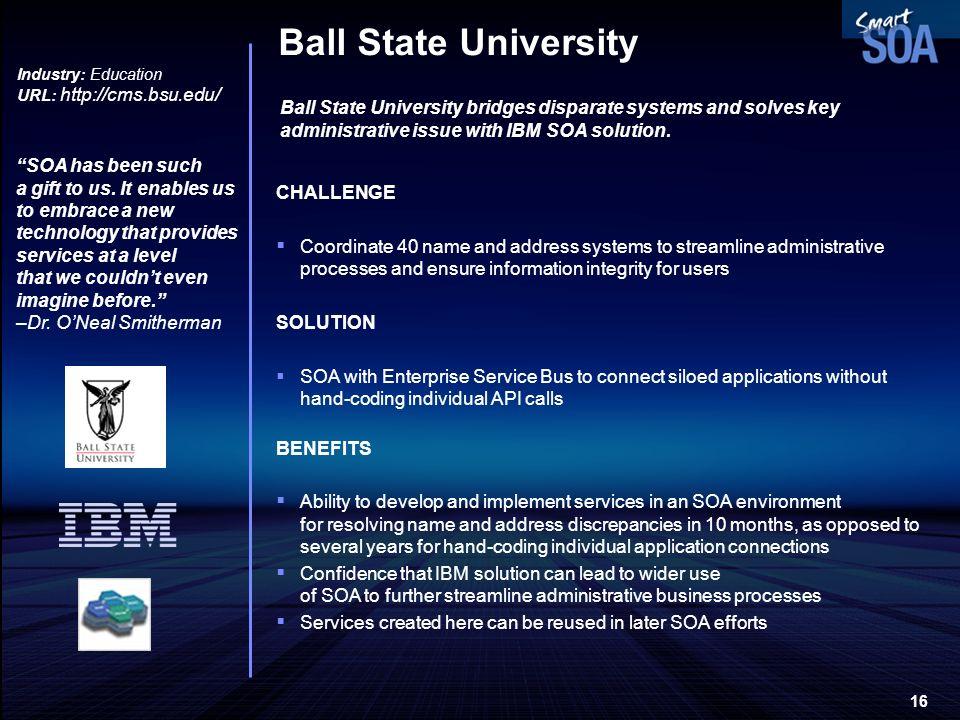 Ball State University Industry: Education. URL: http://cms.bsu.edu/