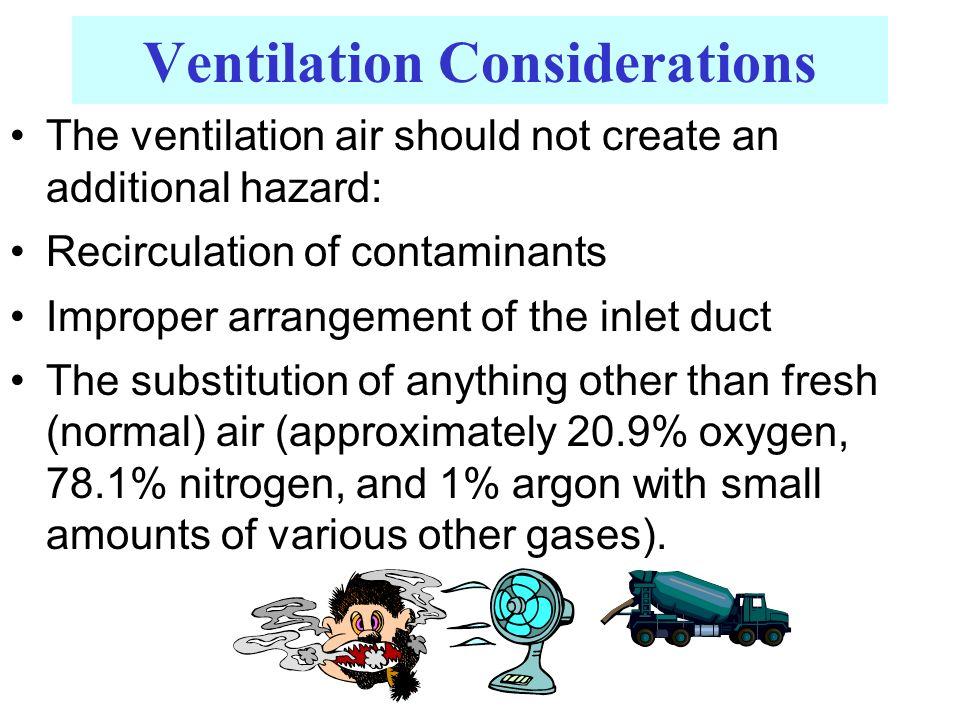 Ventilation Considerations