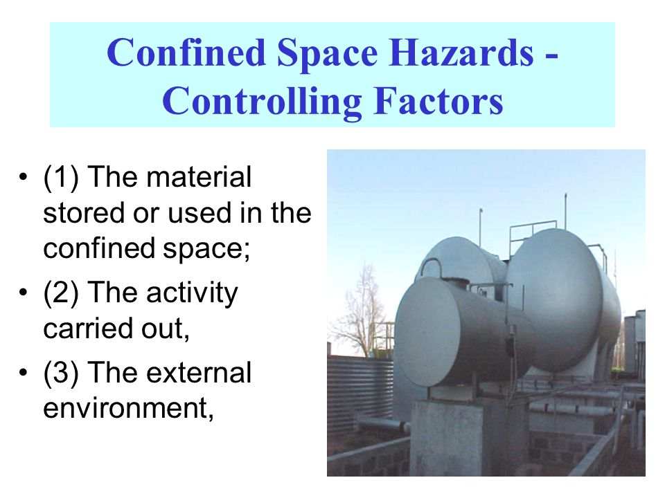 Confined Space Hazards - Controlling Factors