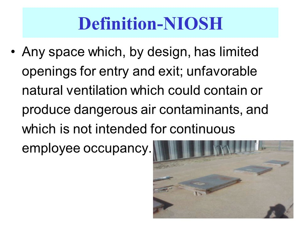 Definition-NIOSH