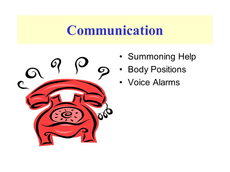 Communication Summoning Help Body Positions Voice Alarms