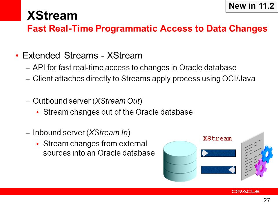 XStream Fast Real-Time Programmatic Access to Data Changes
