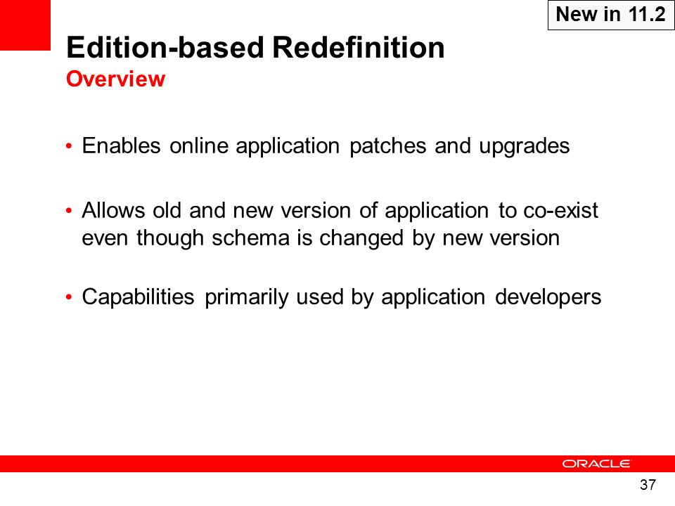 Edition-based Redefinition Overview
