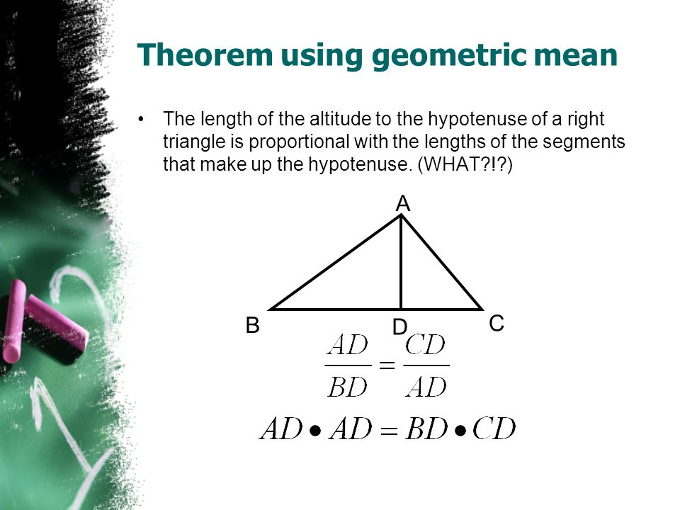 Theorem using geometric mean