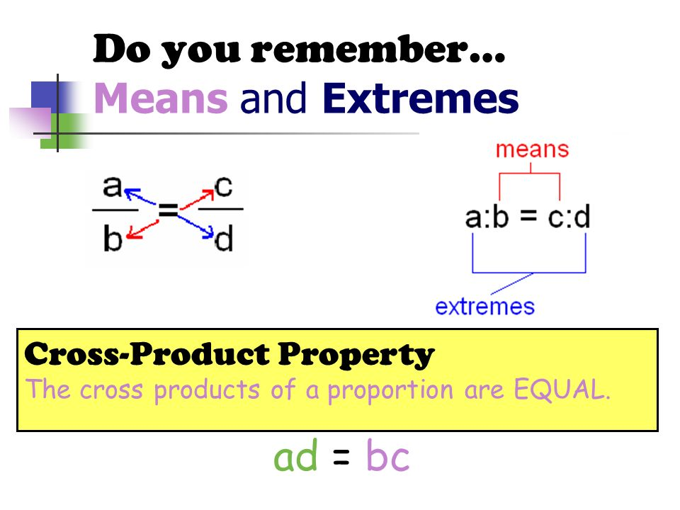 Do you remember… Means and Extremes
