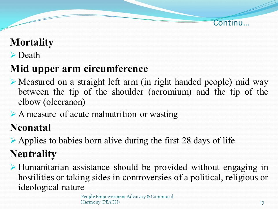 Mid upper arm circumference