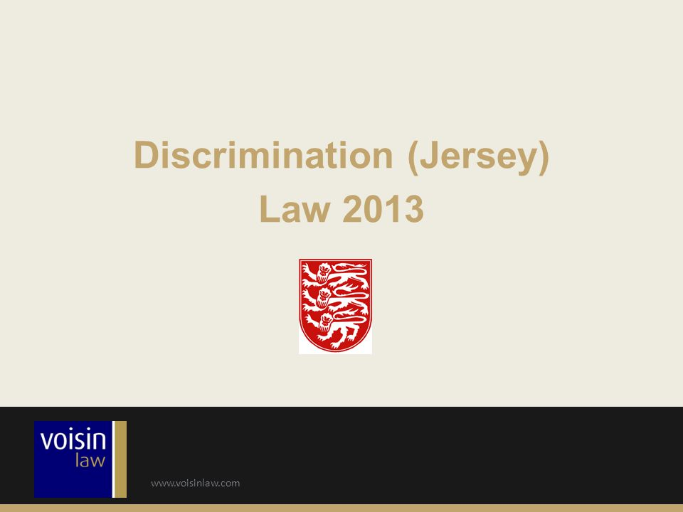 Discrimination (Jersey) Law 2013