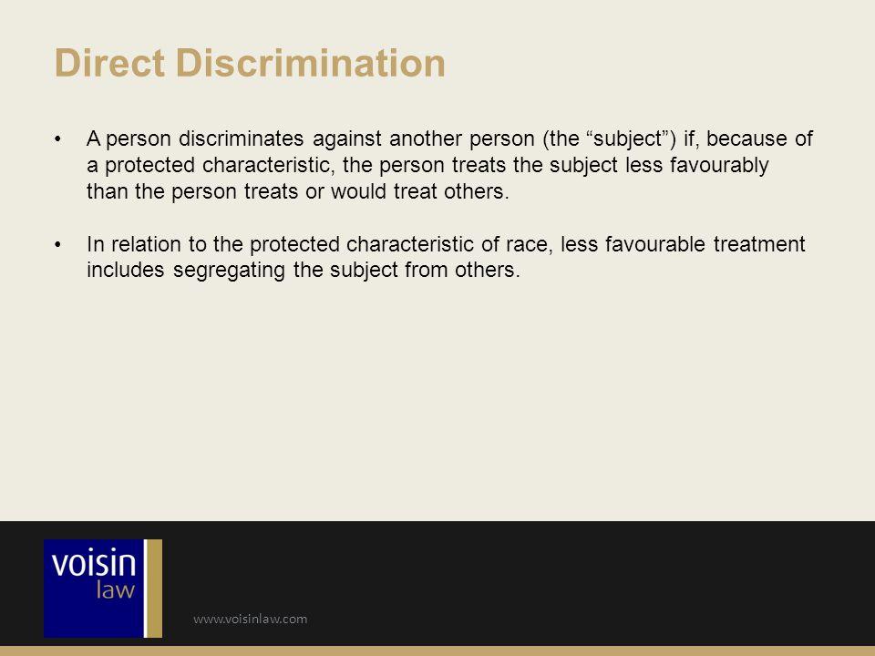 Direct Discrimination