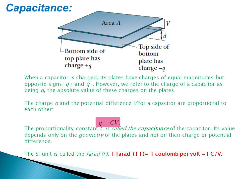 Capacitance: