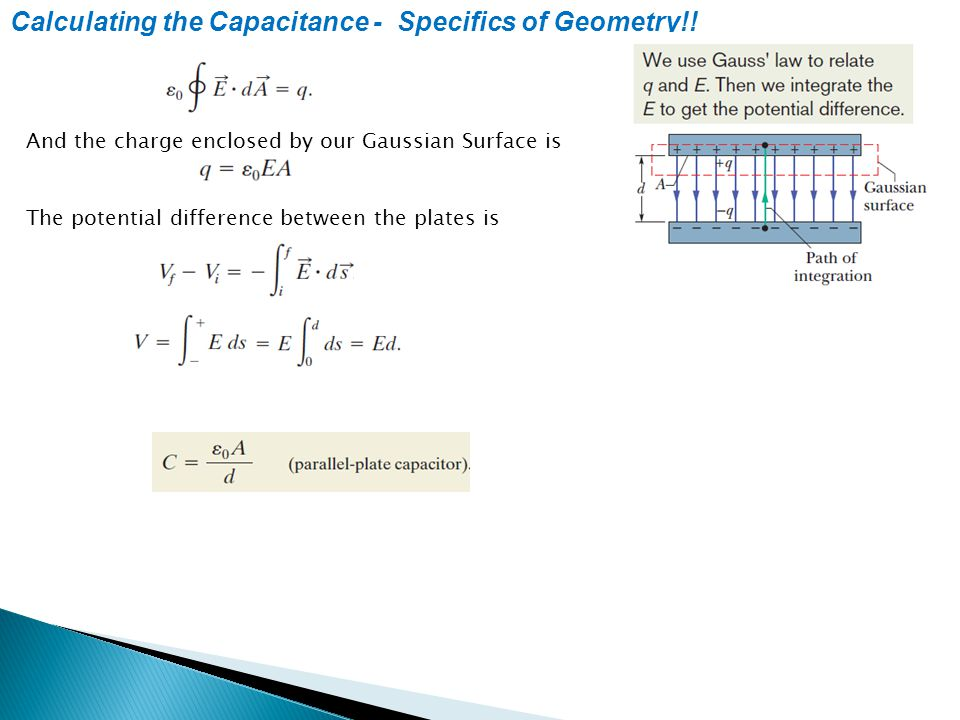 Calculating the Capacitance - Specifics of Geometry!!