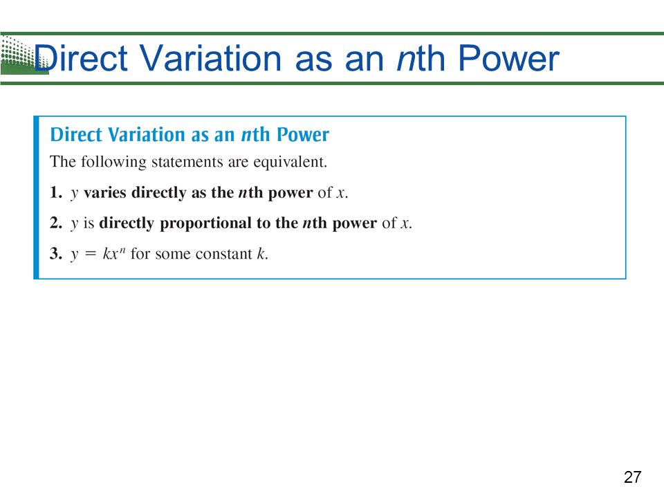 Direct Variation as an nth Power
