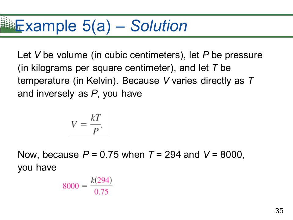 Example 5(a) – Solution