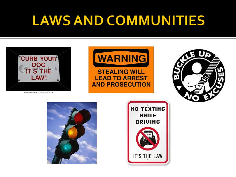 LAWS AND COMMUNITIES