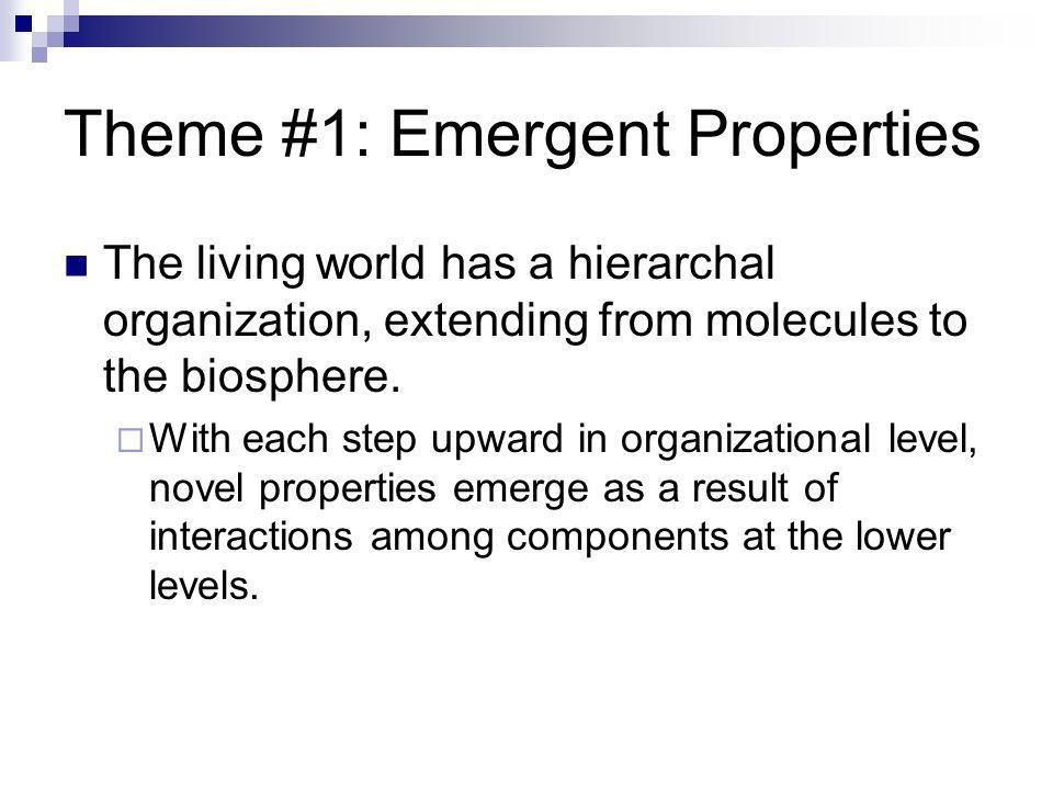 Theme #1: Emergent Properties