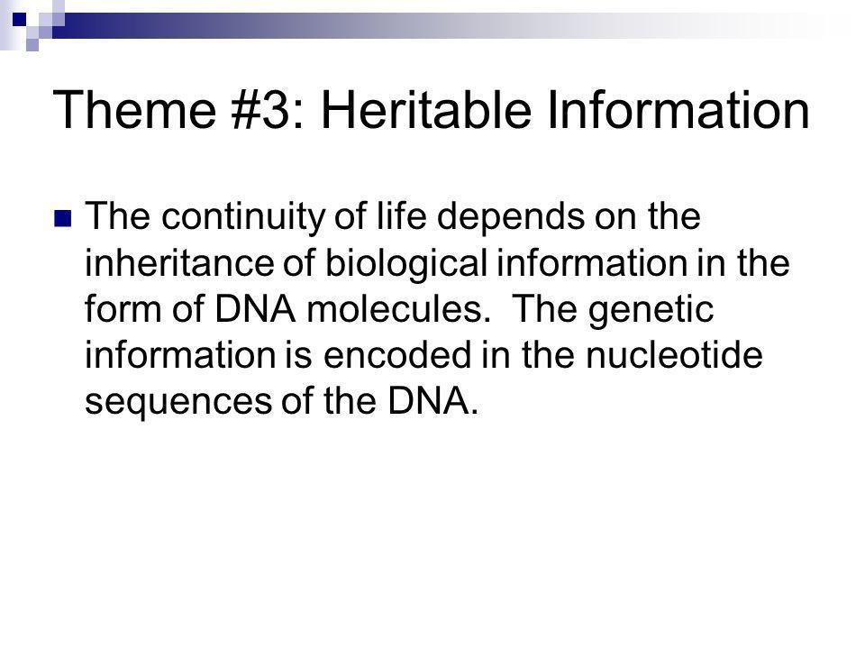 Theme #3: Heritable Information