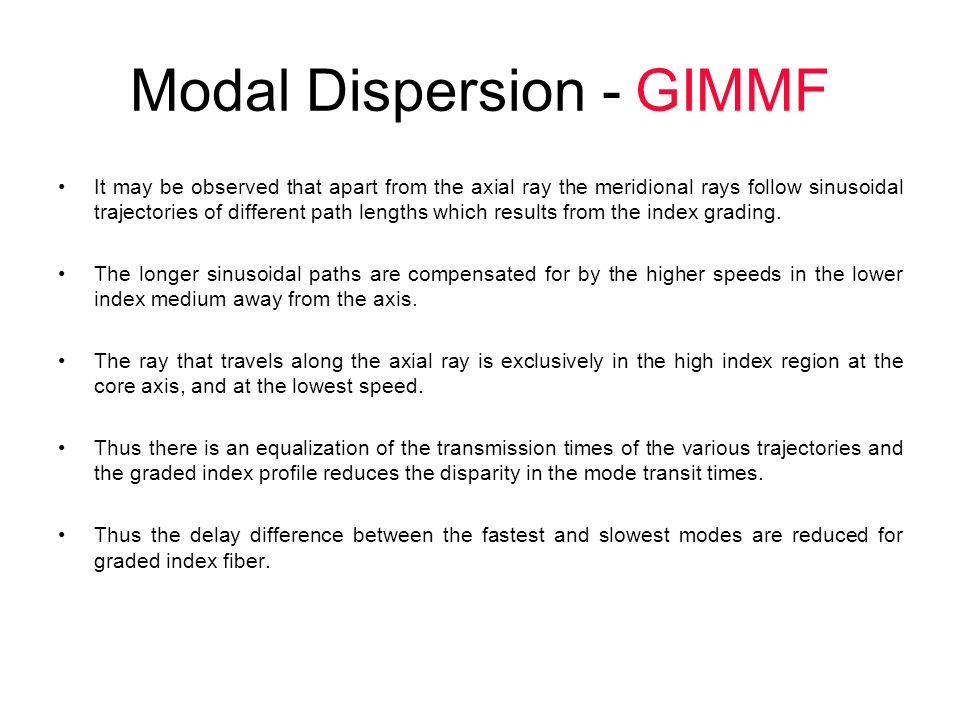 Modal Dispersion - GIMMF