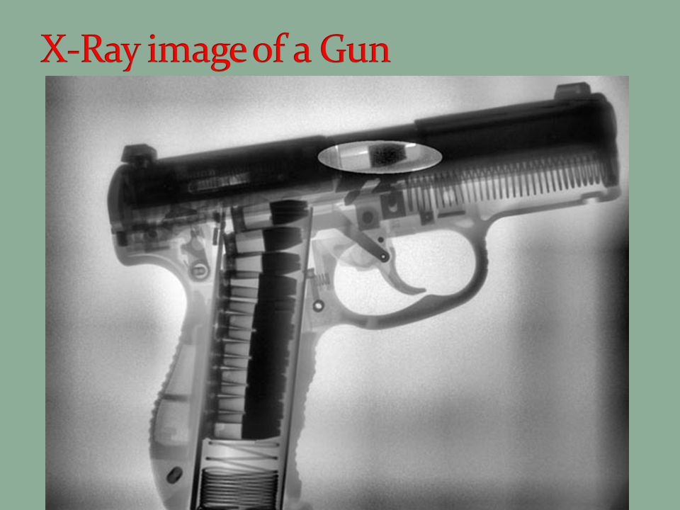 X-Ray image of a Gun