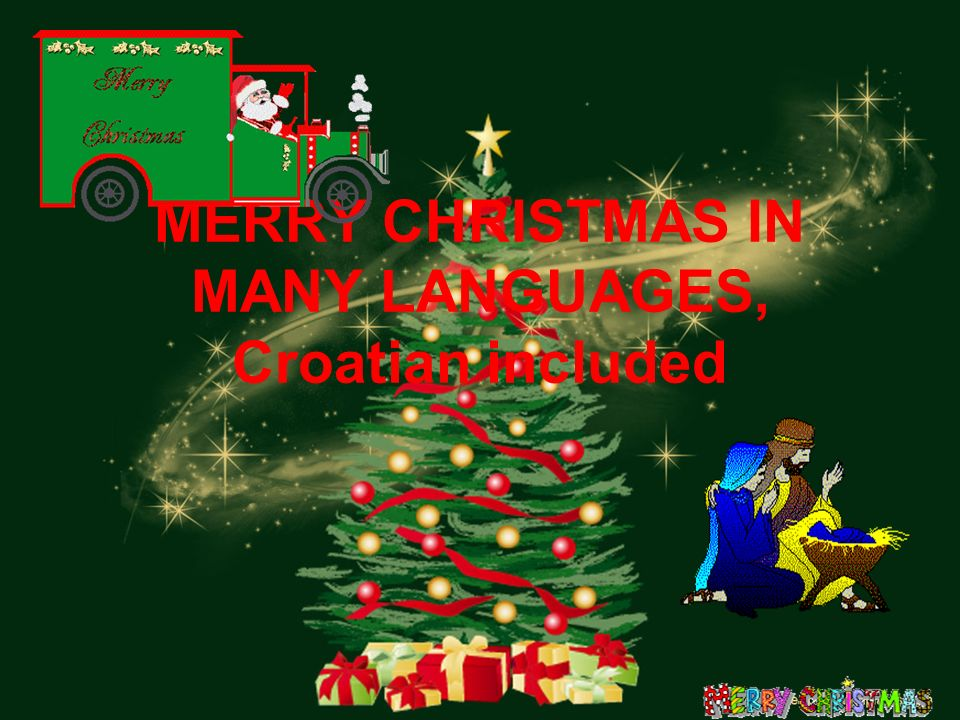 1 merry christmas in many languages croatian included - Merry Christmas In Greek Language