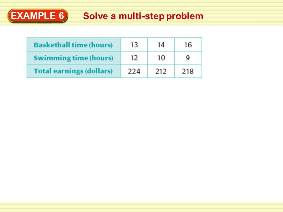 EXAMPLE 6 Solve a multi-step problem