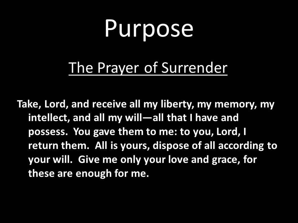 The Prayer of Surrender