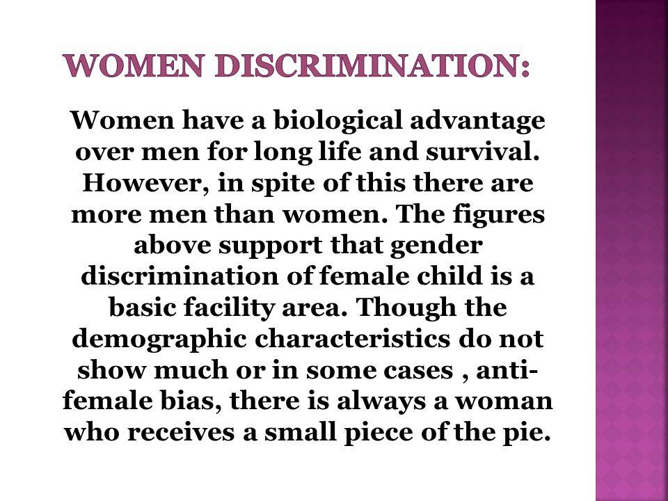 WOMEN DISCRIMINATION: