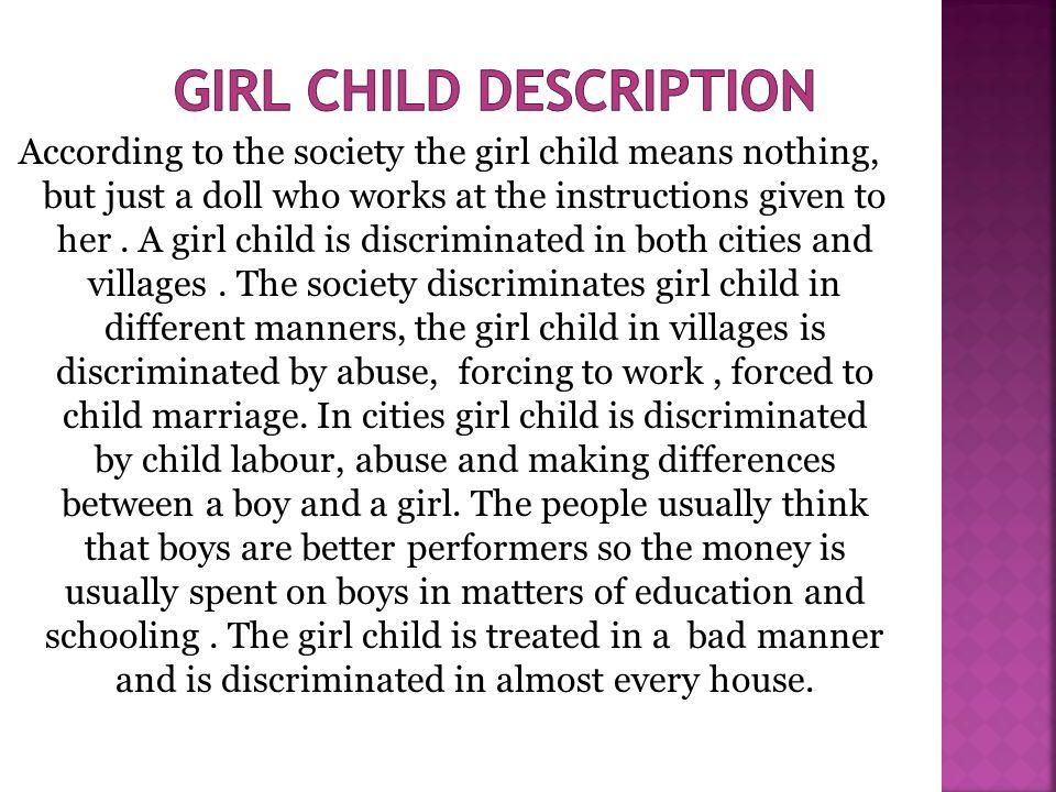 Girl child description