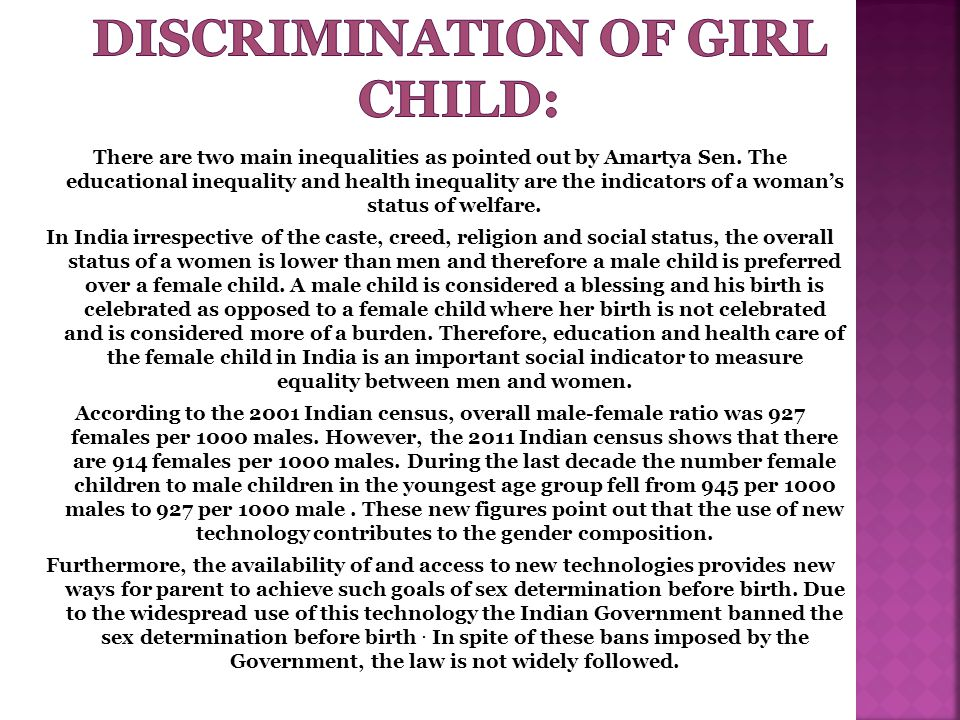 DISCRIMINATION OF GIRL CHILD:
