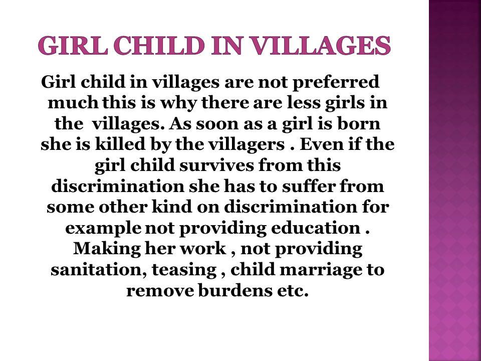 Girl child in villages