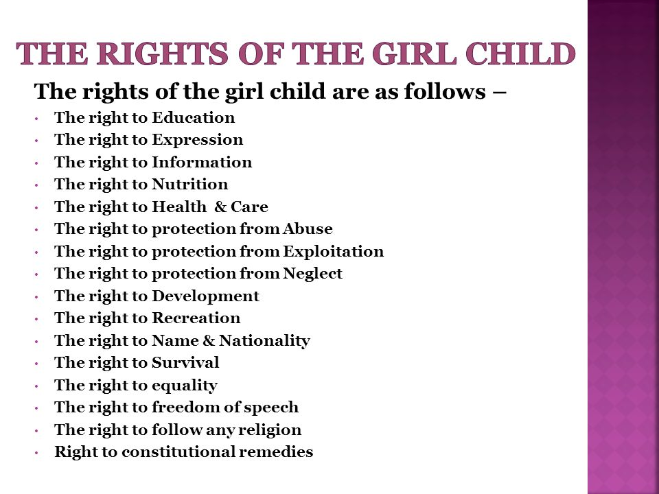 The rights of the girl child