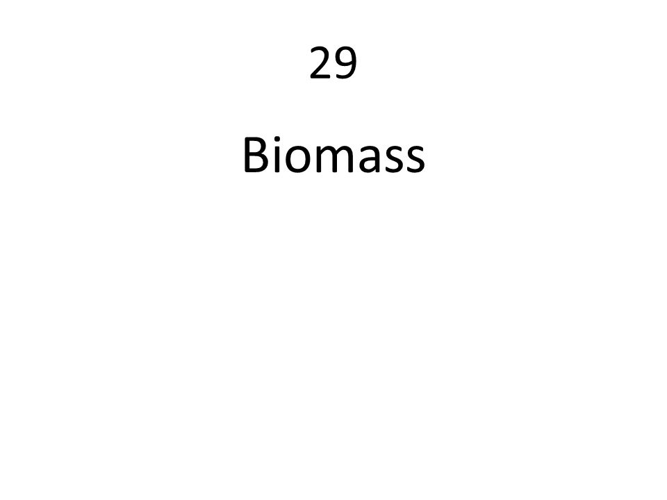 29 Biomass