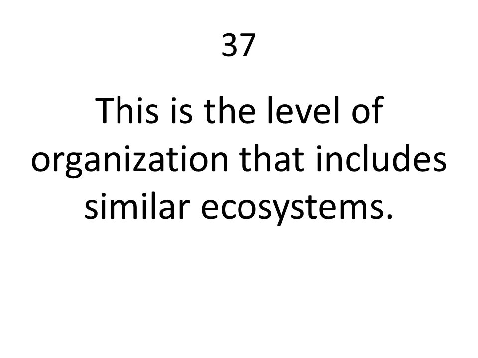 This is the level of organization that includes similar ecosystems.