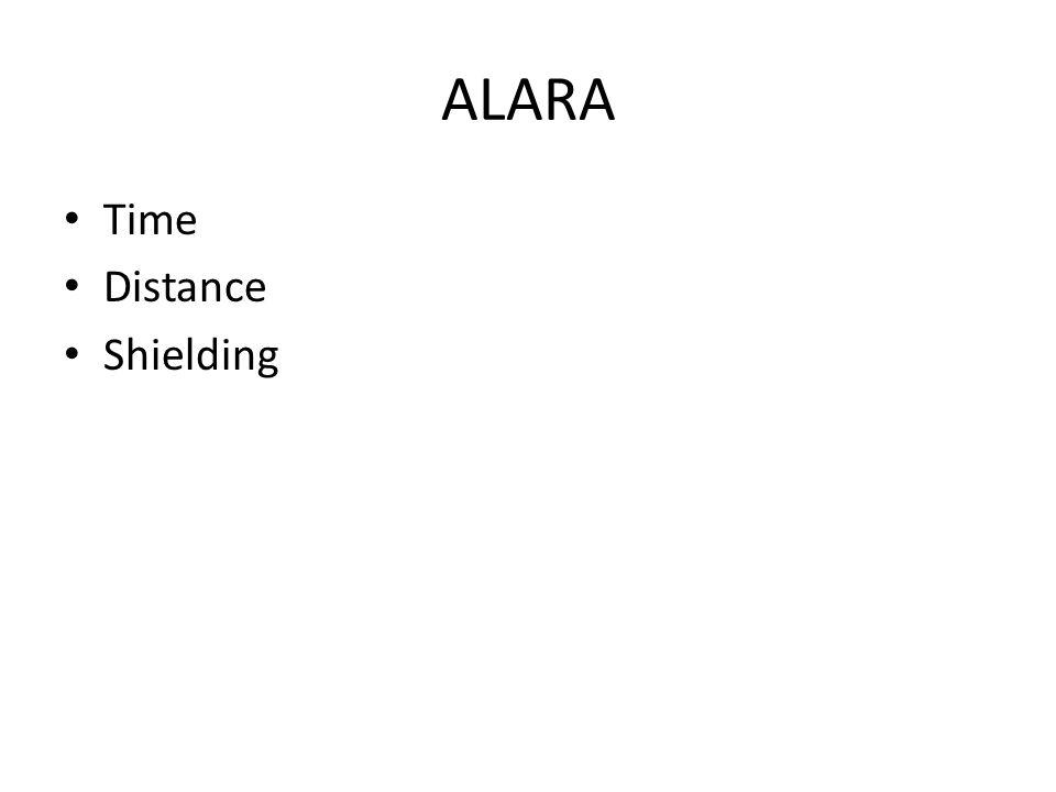 ALARA Time Distance Shielding