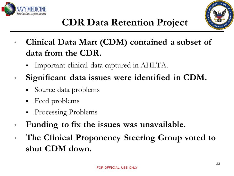 CDR Data Retention Project