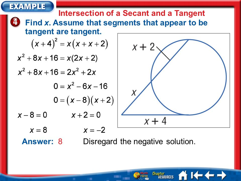 Intersection of a Secant and a Tangent