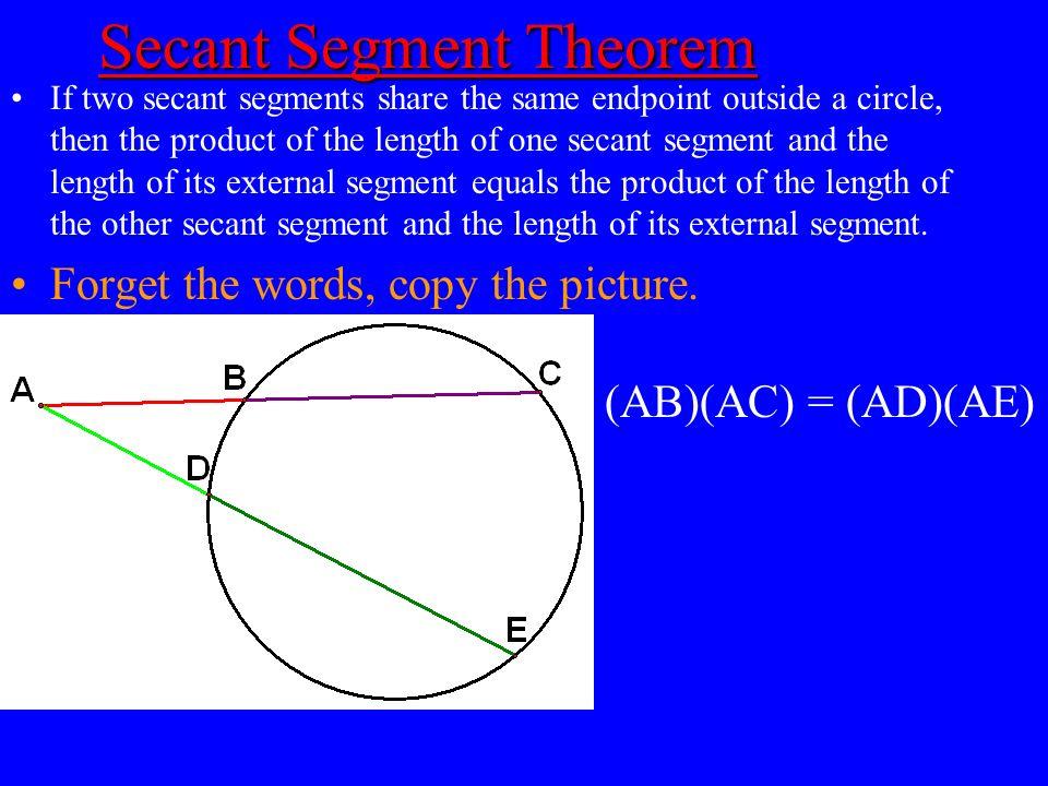 Secant Segment Theorem