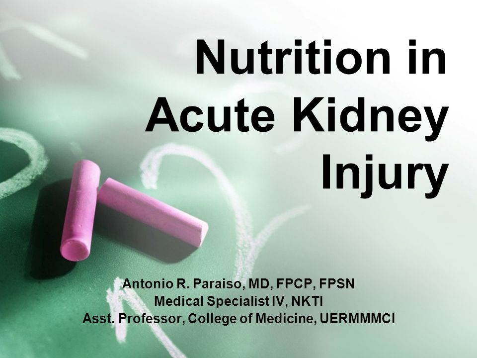 Nutrition in Acute Kidney Injury