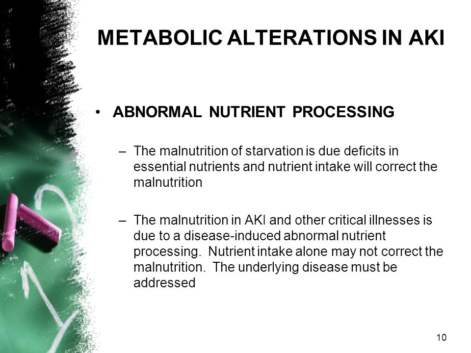 METABOLIC ALTERATIONS IN AKI