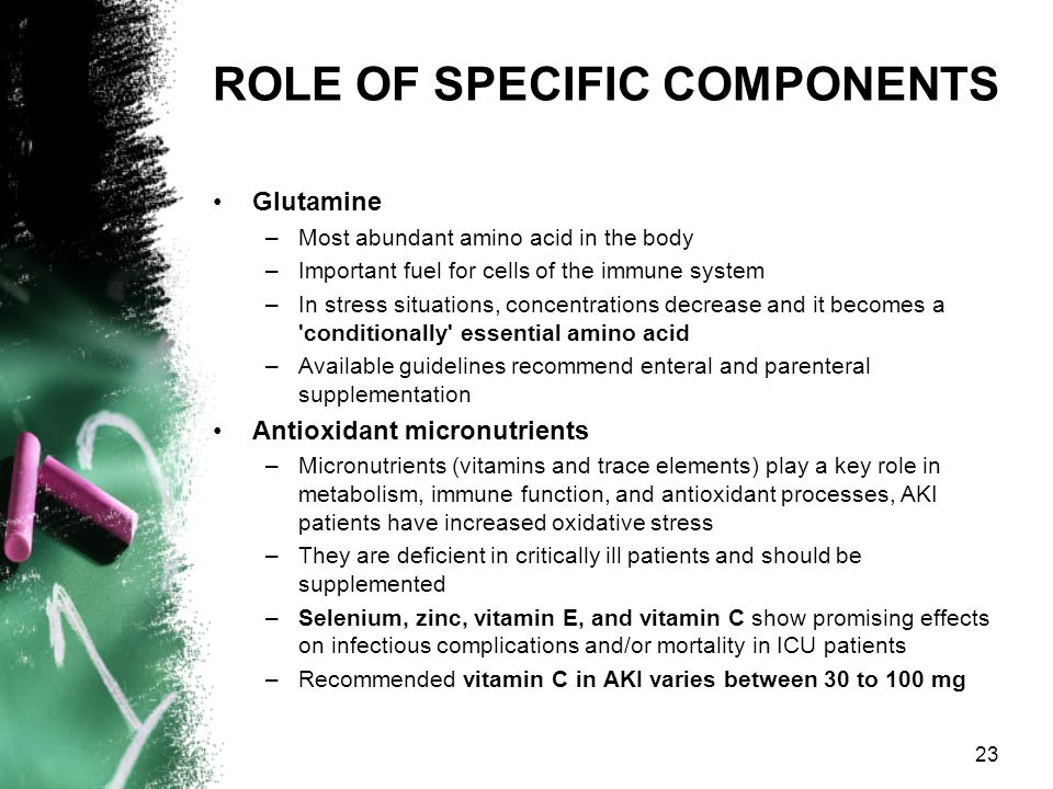 ROLE OF SPECIFIC COMPONENTS