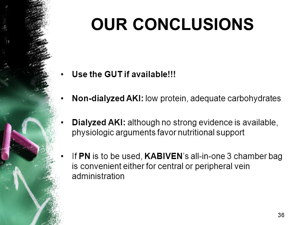 OUR CONCLUSIONS Use the GUT if available!!!