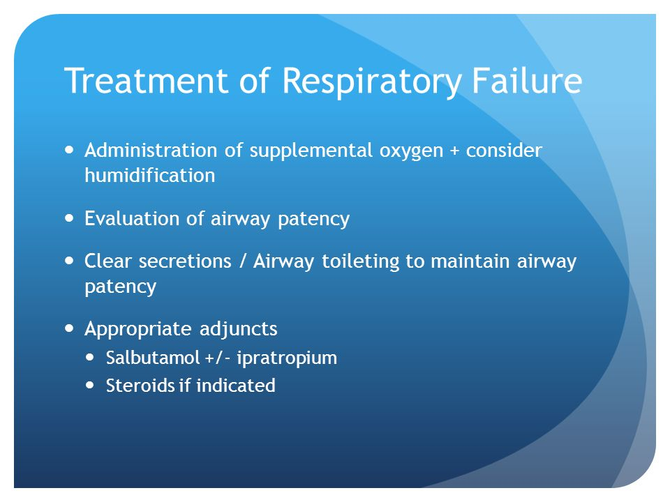 Treatment of Respiratory Failure