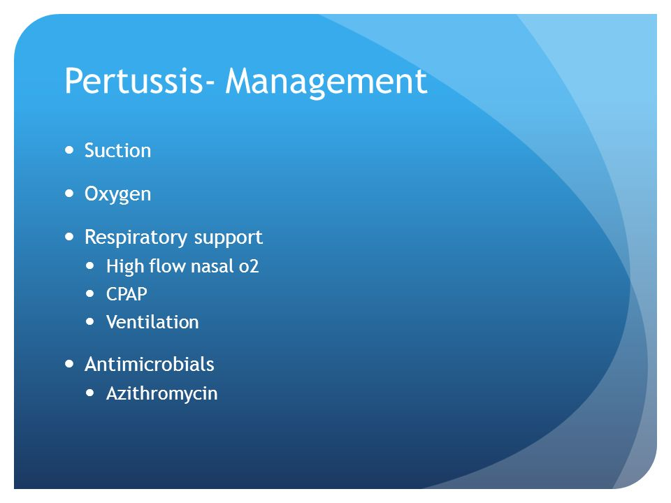 Pertussis- Management