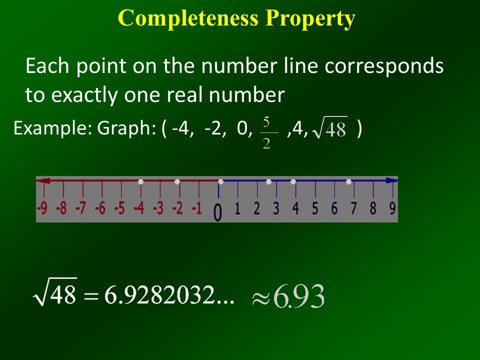 Completeness Property