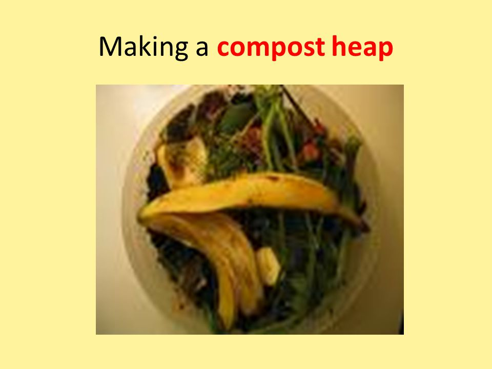 Making a compost heap