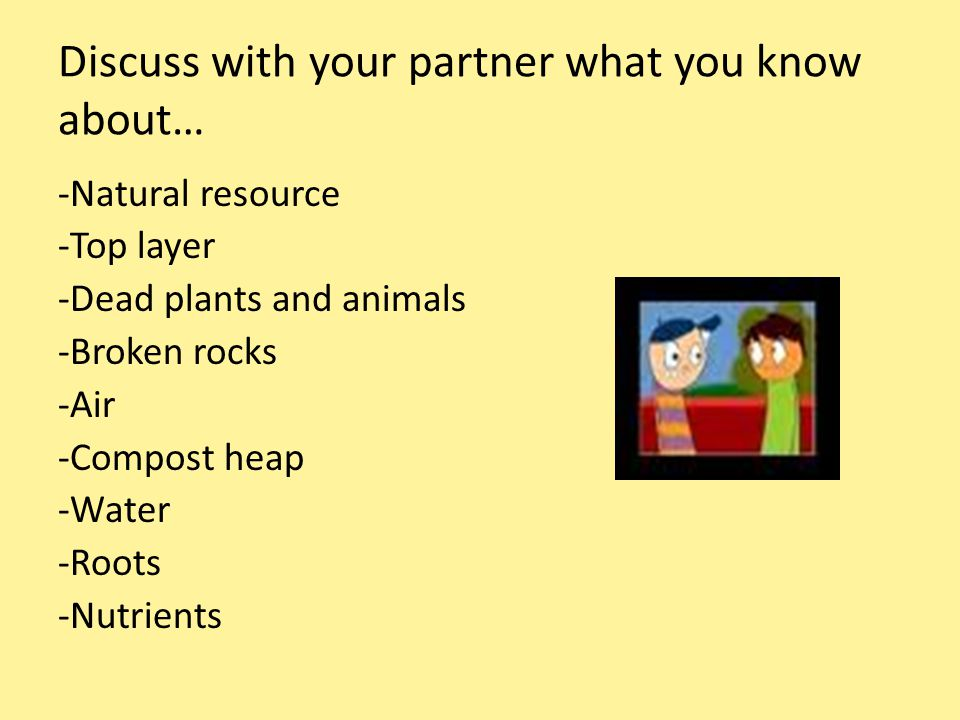 Discuss with your partner what you know about…