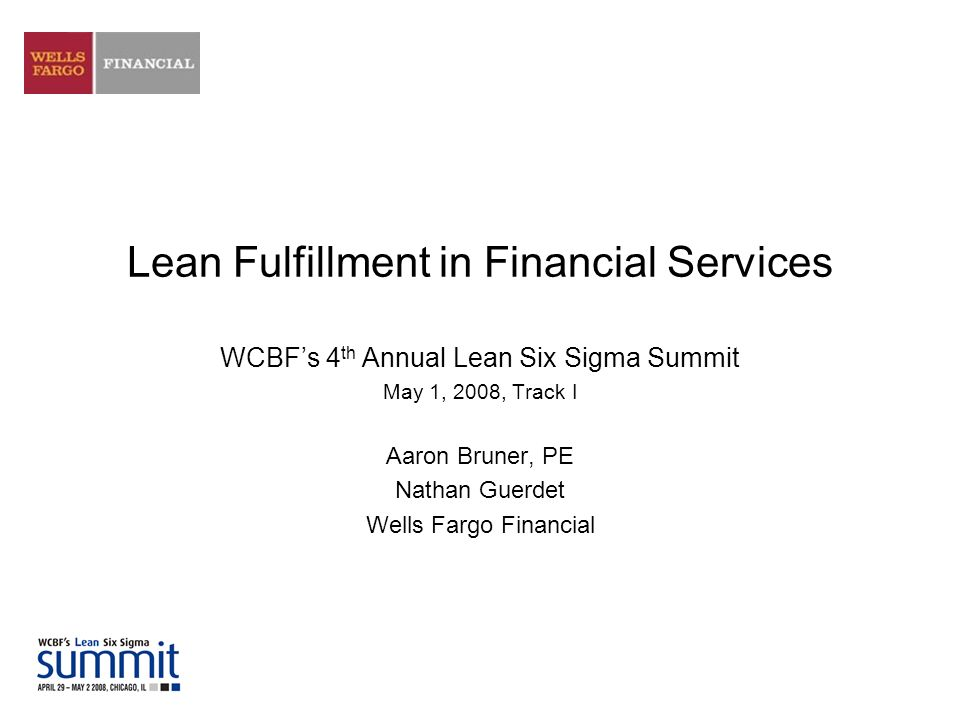Lean Fulfillment in Financial Services