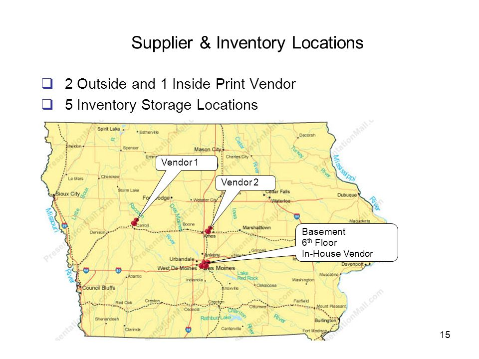 Supplier & Inventory Locations