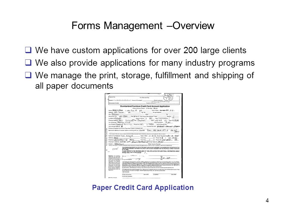 Forms Management –Overview