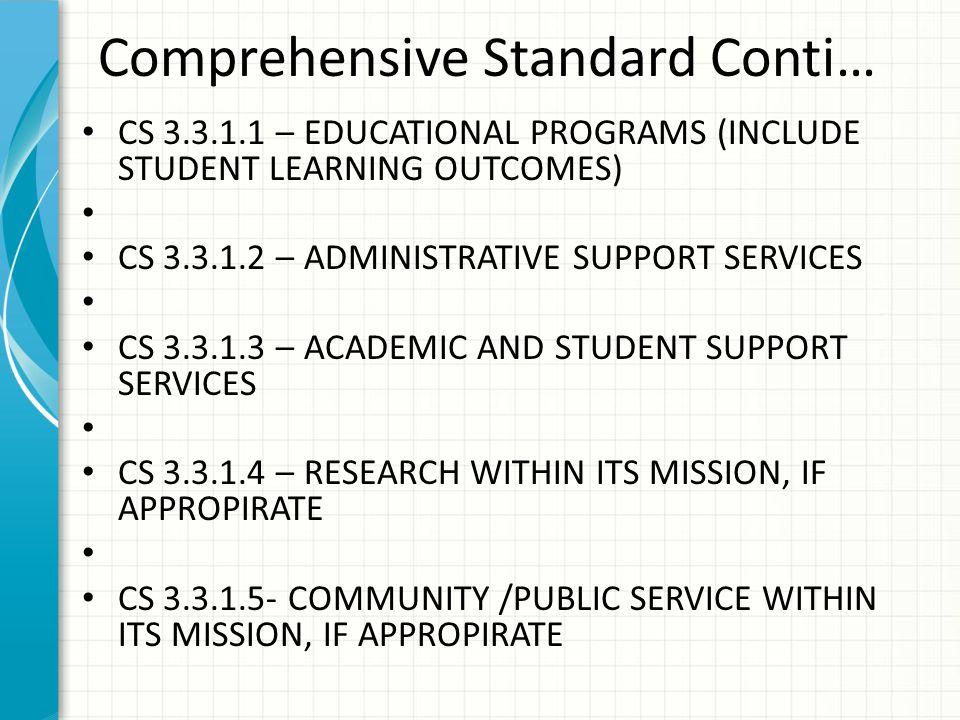 Comprehensive Standard Conti…