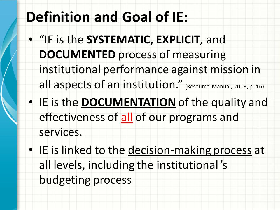 Definition and Goal of IE:
