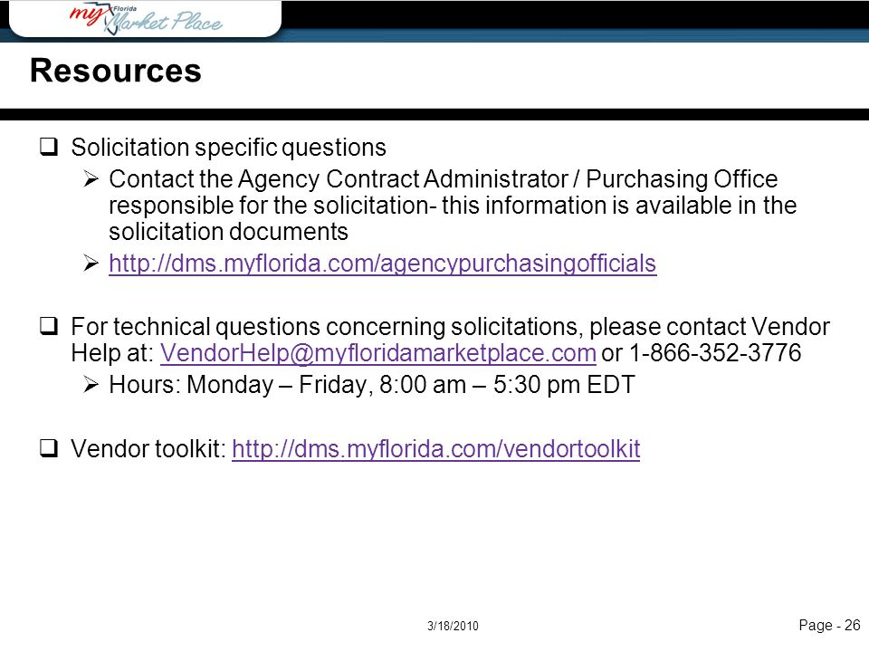 Resources Resources Solicitation specific questions